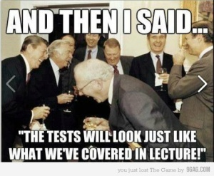 I knew the teachers do this! hahahaha